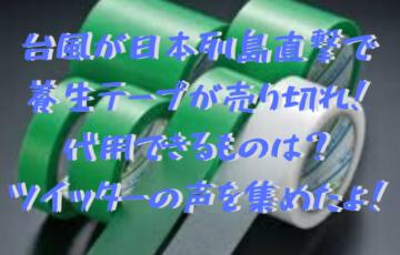 台風19号2019が日本列島直撃で養生テープが売り切れ!代用できるものは?ツイッターの声