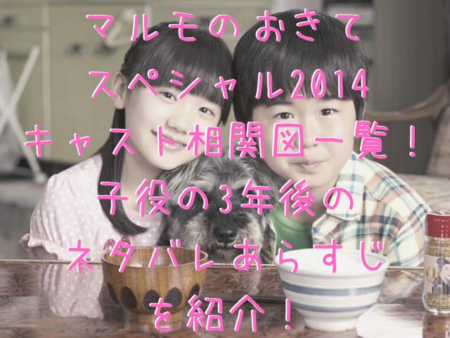 マルモのおきて スペシャル2014 キャスト相関図一覧! 子役の3年後の ネタバレあらすじ を紹介!