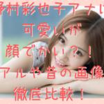 野村彩也子 アナウンサー 可愛い 顔でかい 卒アル 昔 画像
