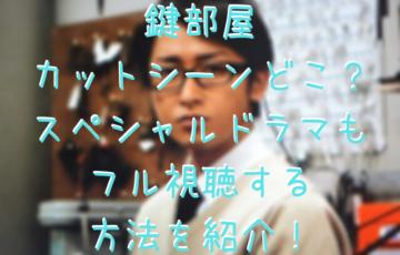 鍵部屋カットシーンどこ?スペシャルドラマもフル視聴する方法を紹介!