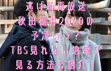 逃げ恥再放送 秋田福井2020の 予定いつ? TBS見れない地域で 見る方法も紹介!