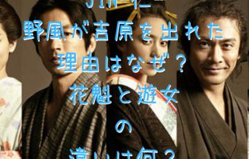 JIN-仁- 野風が吉原を出れた 理由はなぜ? 花魁と遊女 の 違いは何?