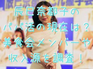 辰巳奈都子の パパ活の現在は? 美食会メンバーや 収入源を調査!
