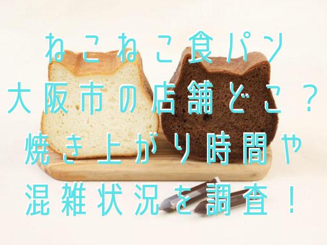 ねこねこ食パン大阪市の店舗どこ?焼き上がり時間や混雑状況を調査!