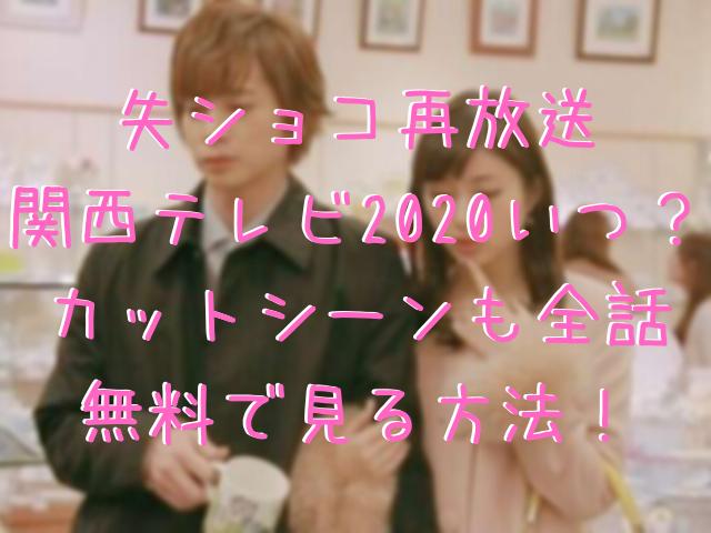 失ショコ再放送関西テレビ2020いつ?カットシーンも全話無料で見る方法!