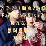 わたどう動画2話はPandoraや9tsuで見れない?無料視聴する方法は?