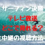 サーフィン決勝テレビ放送はどこで見れる?生中継の視聴方法も紹介!