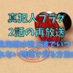 真犯人フラグ2話の再放送北海道は地上波でいつ?見れない地域で見る方法は?